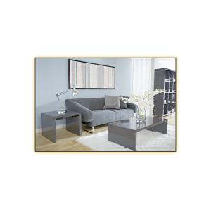 Abby Cocktail and End Tables - Gray