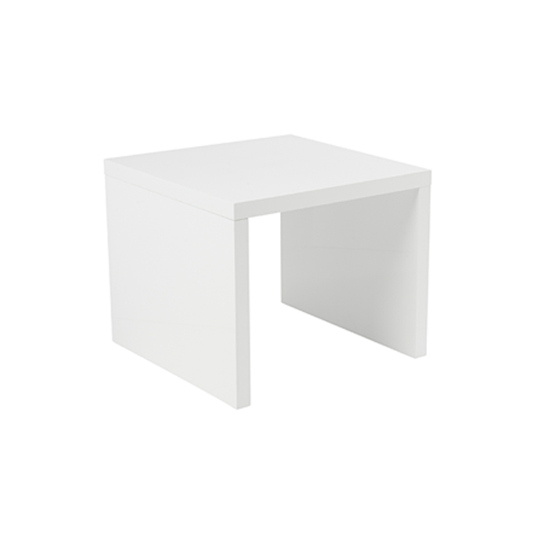 Abby End Table - White