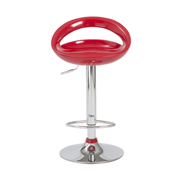 Agnes Adjustable Bar Stool - Red