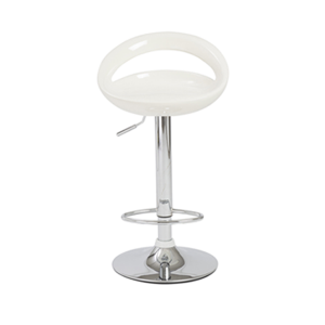 Agnes Adjustable Bar Stool - White