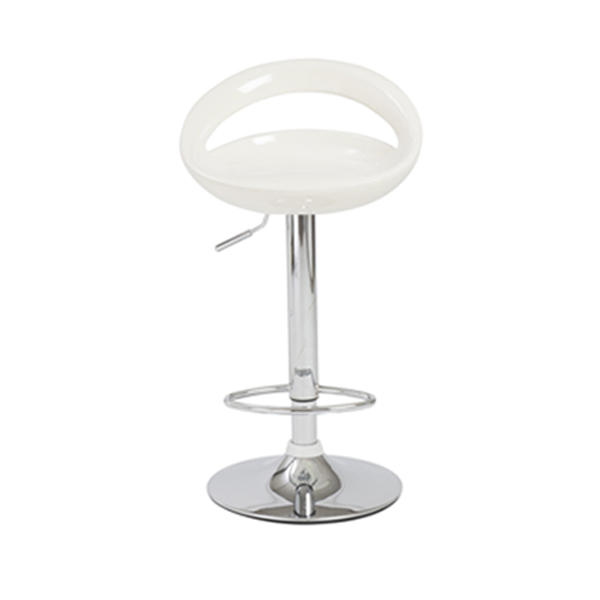 Agnes Adjustable Bar Stool - White
