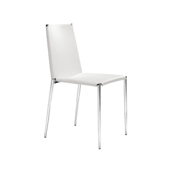 Alex Cafe Chair - White