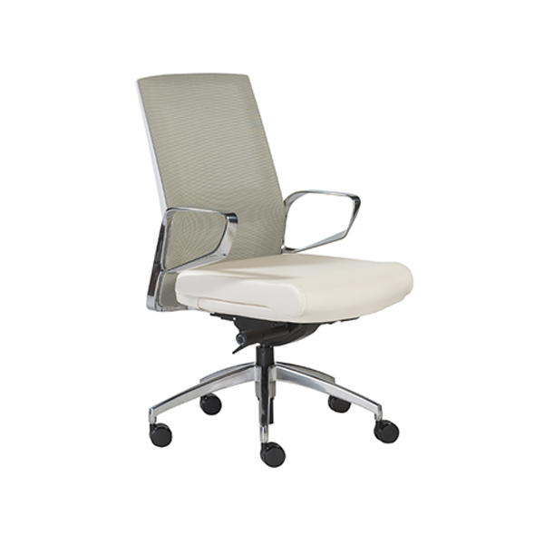 Alpha Office Chairs - Light Green Back with White Seat
