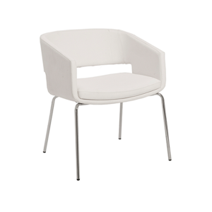 Amelia Lounge Chair - White