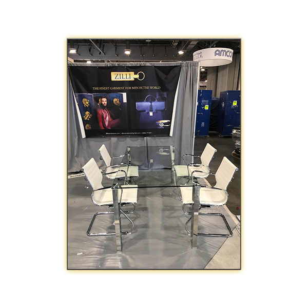 Beth Conference Table with White Axel Conference Chairs