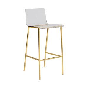 Chloe Bar Stool - Matte Brushed Gold Legs