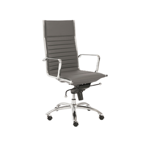 Dirk High Back Office Chair - Gray