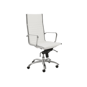 Dirk High Back Office Chair - White