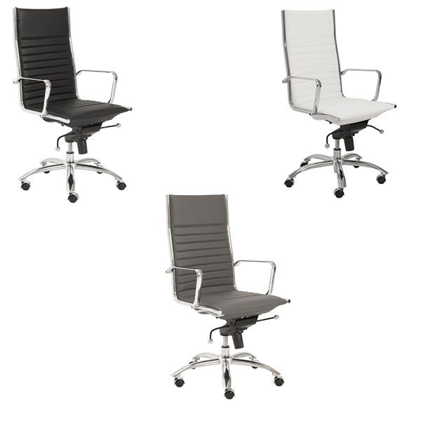 Dirk High Back Office Chairs - V-Decor Trade Show Furniture Rentals in Las Vegas