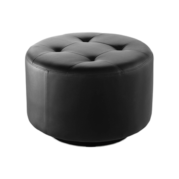 Domani Large Swivel Ottoman - Black
