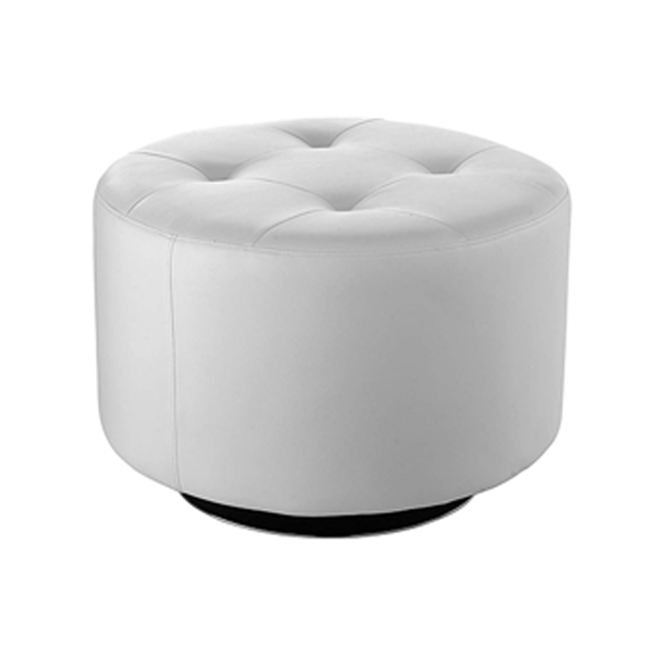Domani Large Swivel Ottoman - White
