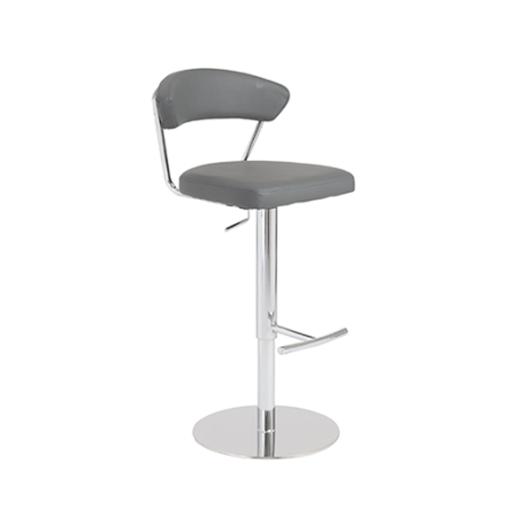 Draco Adjustable Bar Stool - Gray