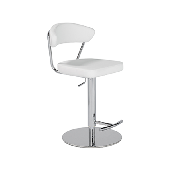 Draco Adjustable Bar Stool - White