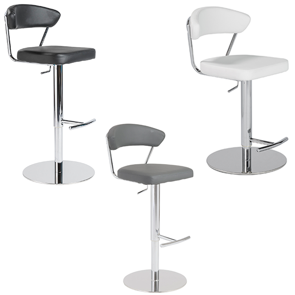 Draco Adjustable Bar Stools - V-Decor Trade Show Furniture Rentals