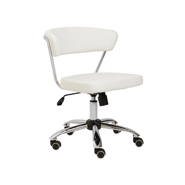 Draco Armless Office Chair - White