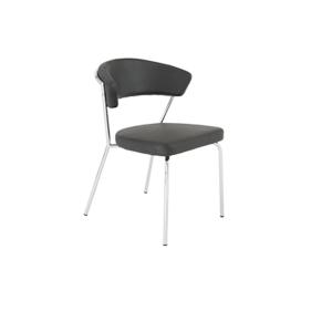 Draco Chair - Black-Steel