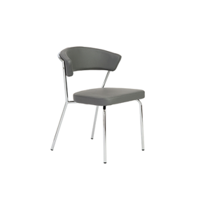 Draco Chair - Gray - Steel