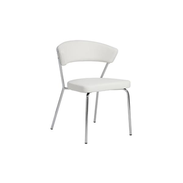 Draco Chair - White - Steel
