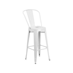 Eli Bar Stool - White