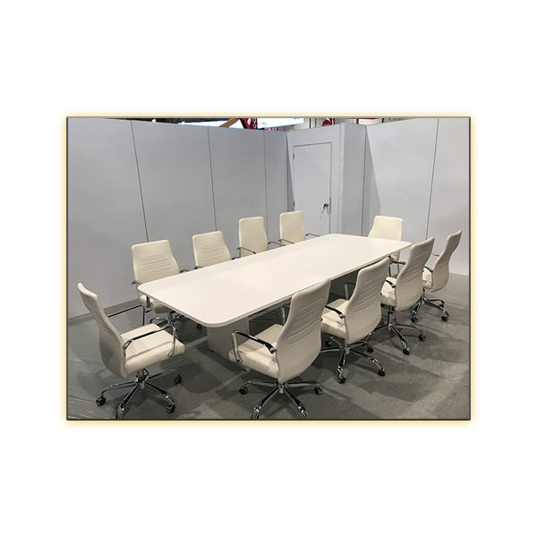 Fenella Office Chair - White - with 8.5ft White Conference Table