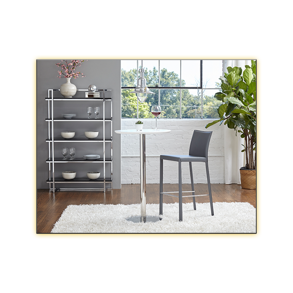 Gilbert Shelves - Black - Cookie Bar Table with Hasina Bar Stool