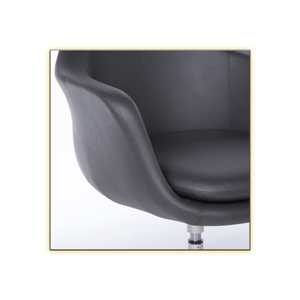 Giovana Lounge Chair - Dark Gray CloseUp