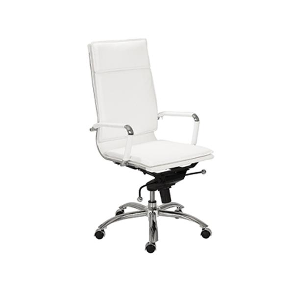 Gunar High Back Office Chair - White