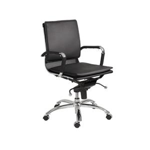 Gunar Low Back Office Chair - Black