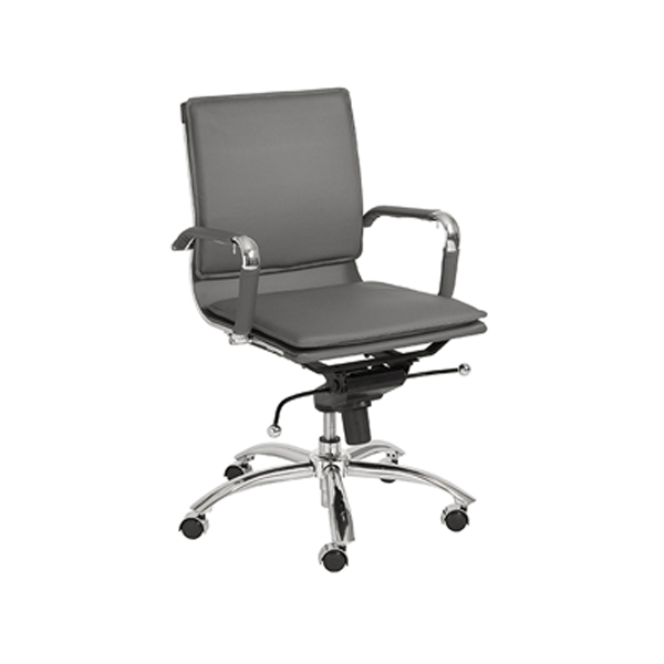 Gunar Low Back Office Chair - Gray