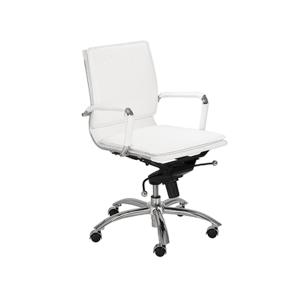 Gunar Low Back Office Chair - White