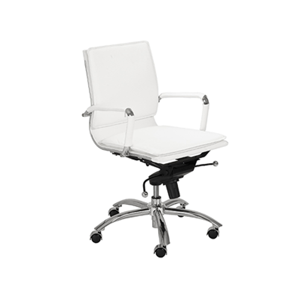Gunar Low Back Office Chair - White