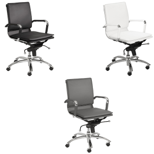Gunar Low Back Office Chairs - V-Decor Trade Show Furniture Rentals in Las Vegas