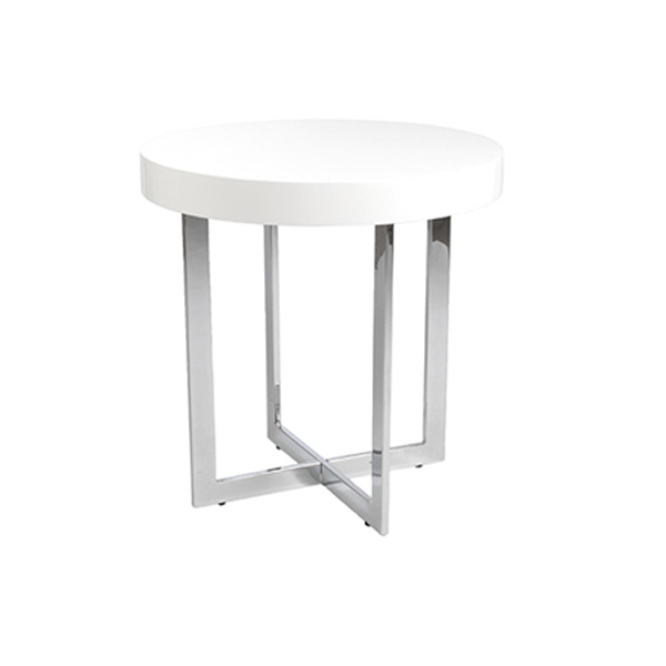 Oliver End Table - White