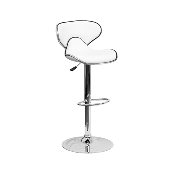 Oxbow Bar Stool - White