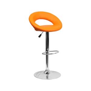 Pluto Bar Stool - Orange