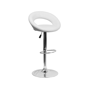 Pluto Bar Stool - White
