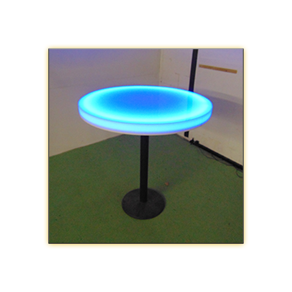 Radiance LED 30in Round Cafe Table - V-Decor Trade Show Furniture Rentals in Las Vegas