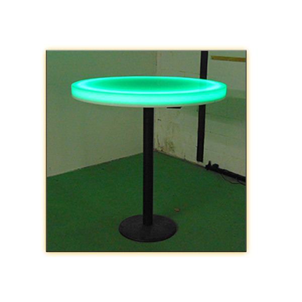 Radiance LED 30in Round Cafe Table - Light On