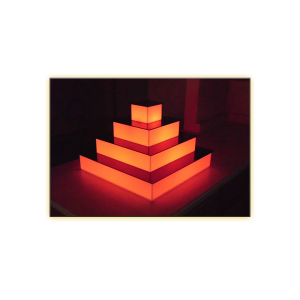 Radiance LED 4-Tier Riser - V-Decor Trade Show Furniture Rentals in Las Vegas