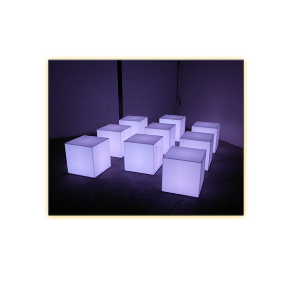 Radiance LED Cube - 18in - V-Decor Trade Show Furniture Rentals in Las Vegas