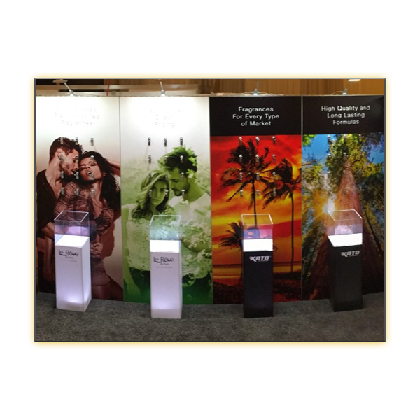 Radiance LED Plexi Display Column - V-Decor Trade Show Furniture Rentals in Las Vegas