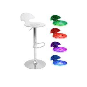 Radiance LED Spiral Bar Stool - V-Decor Trade Show Furniture Rentals in Las Vegas