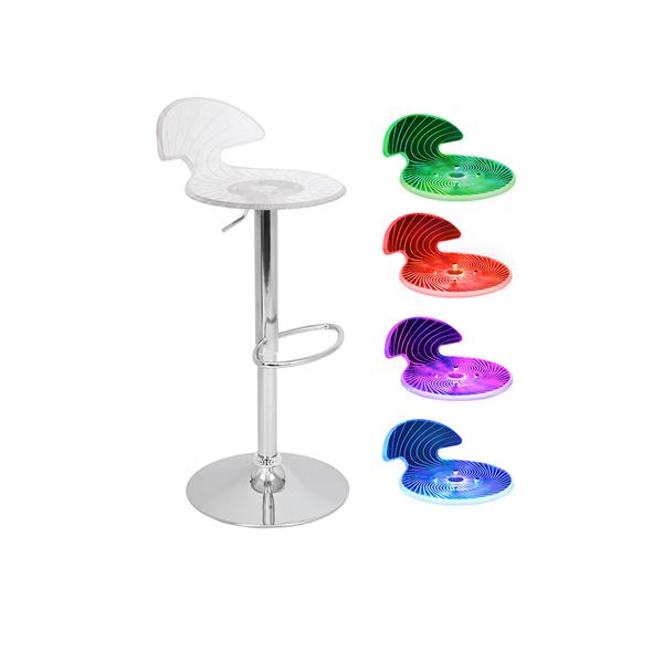 Radiance LED Spiral Bar Stool - V-Decor Trade Show Furniture Rentals in Las Vegas