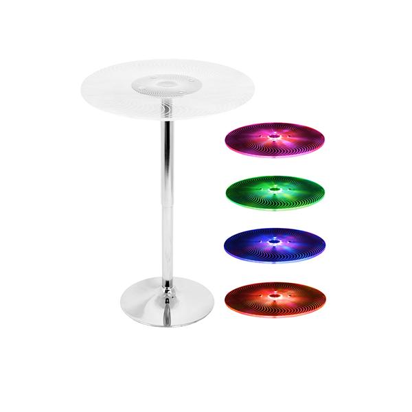 Radiance LED Spiral Bar Table - V-Decor Trade Show Furniture Rentals in Las Vegas