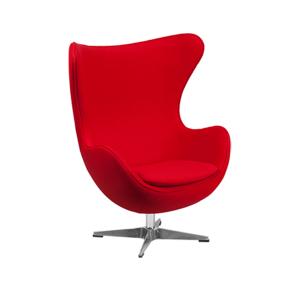 Seek Lounge Chair - Red Fabric