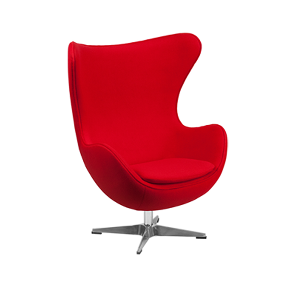 Seek Lounge Chair - Red Fabric