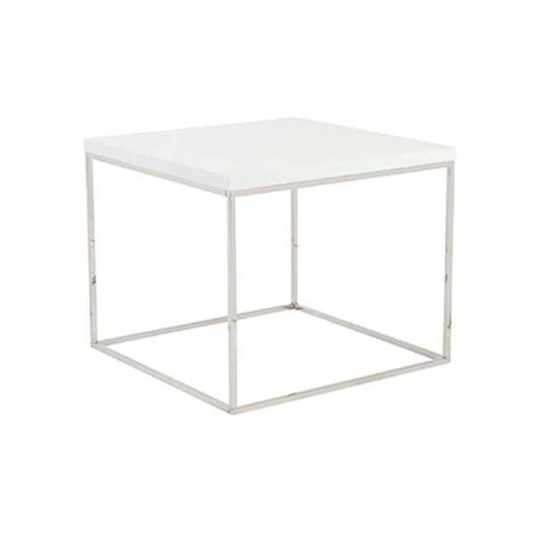 Teresa End Table - White
