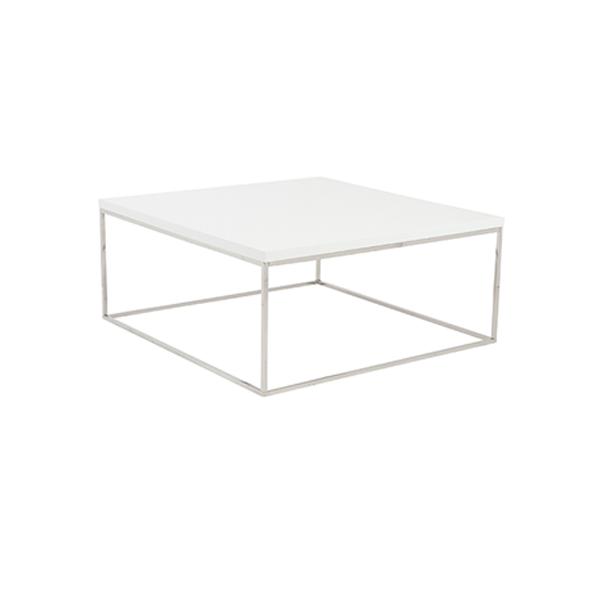 Teresa Square Cocktail Table - White