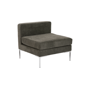 Vittorio Armless Sofa - Dark Gray