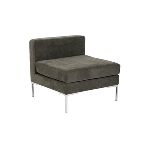 Vittorio Armless Sofa - Dark Gray